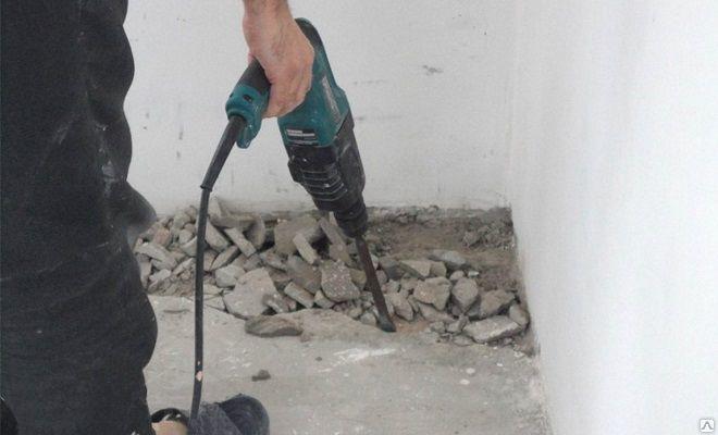 Демонтаж стяжки пола Киев