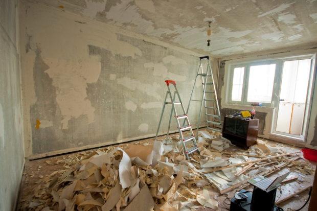 Очистка стен от обоев Киев